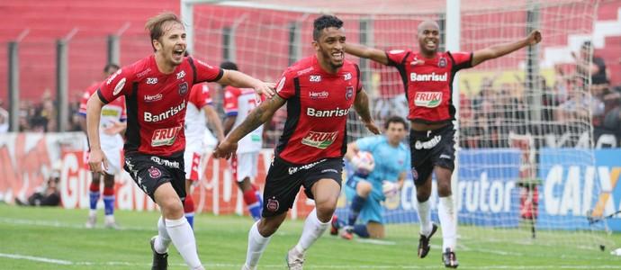 Gol do Brasil de Pelotas contra o Fortaleza Cleverson (Foto: Jonathan Silva / GE Brasil / Divulgação)