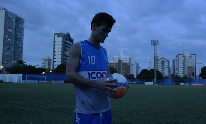 Guga, atacante do Vitória-ES (Foto: Richard Pinheiro/GloboEsporte.com)