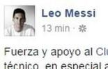 Messi publica mensagem de apoio ao Huracán após acidente com equipe  (Divulgação)