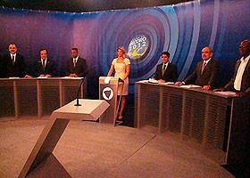 Candidatos participam de mais um debate na TV (Foto: Divulgação/ Itapoan On Line)