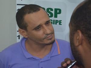 Josivaldo da Purificação nega que atirou no agente penitenciário (Foto: Tássio Andrade/G1)