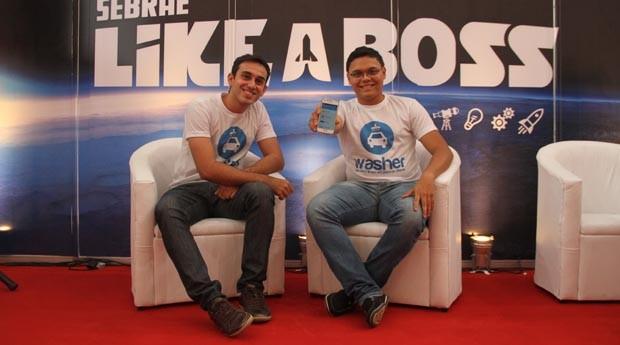 Davi Vasconcelos e Levi Macario: eles criaram um app para agendar a lavagem do carro (Foto: Fabiano Candido)