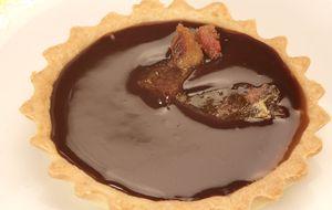 Tartelete de caramelo com bacon