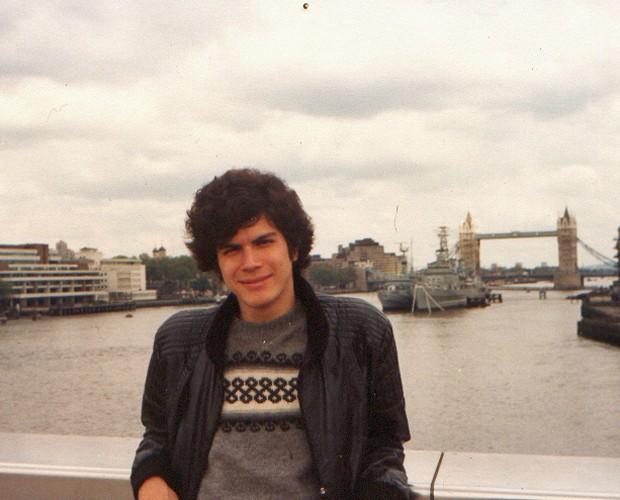 Paulo Ricardo na época que morava em Londres e começou a compor (Foto: Arquivo Pessoal)