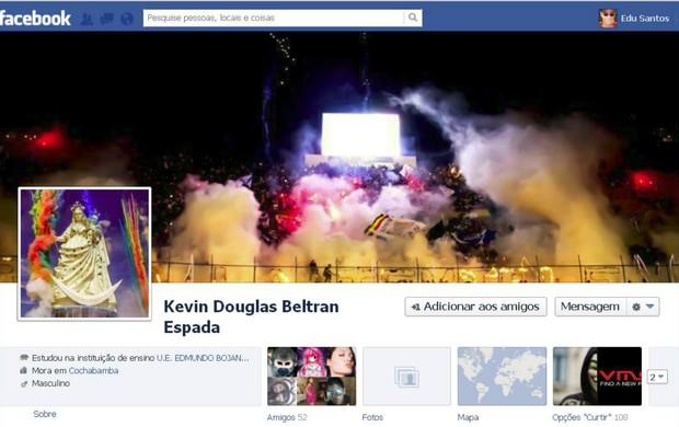 Perfil no Face do torcedor atingido pelo sinalizador (Foto: Reprodução / Facebook)