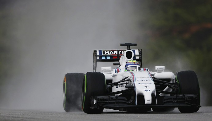 Felipe Massa com a Williams no treino classificatório para o GP da Malásia (Foto: Reuters)