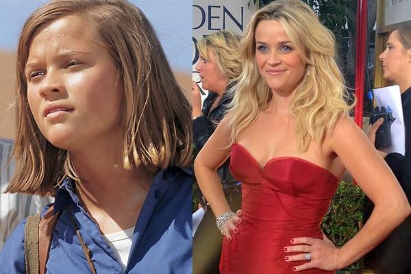 Reese Witherspoon já interpretou desde mulheres ricas a grandes estrelas da música. Mas a atriz precisou ralar muito até conseguir esses papeis e levar seu Oscar para casa. Reese já fez até o papel de uma menininha que foge pelo deserto em 'Viagem ao Grande Deserto', em 1993. (Foto: Divulgação e Wikimedia/MyCanon)