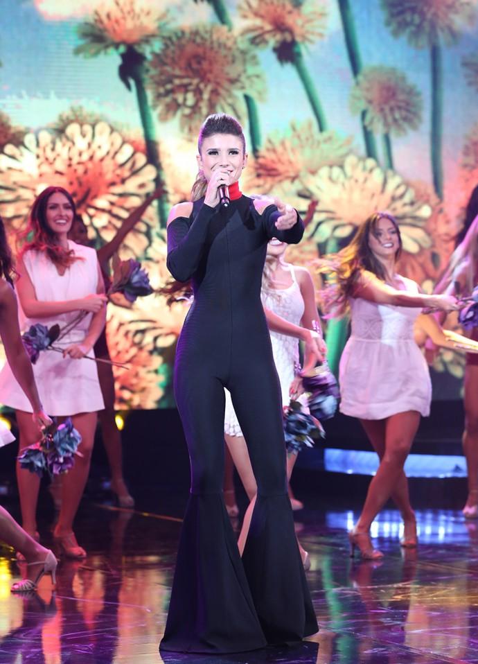 Público elogiou a boa forma da cantora (Foto: Carol Caminha/ Gshow)