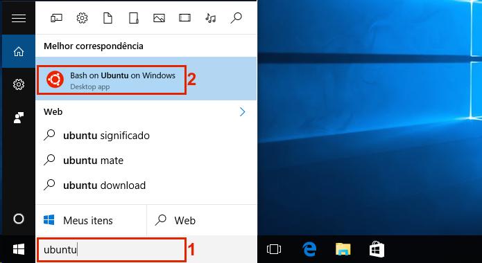 Executando o Bash on Ubuntu on Windows 10 (Foto: Reprodução/Edivaldo Brito)