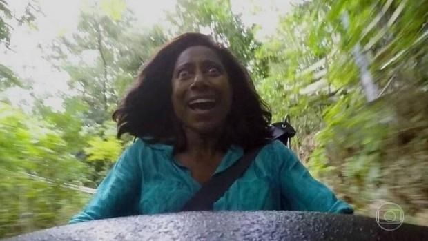 Meme de Glória Maria na Jamaica (Foto: TV Globo)