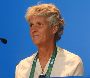Pia Sundhage, técnica da Suécia (Foto: Marcelo Hazan)