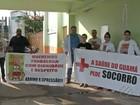 Médicos protestam em frente ao PSM do bairro do Guamá