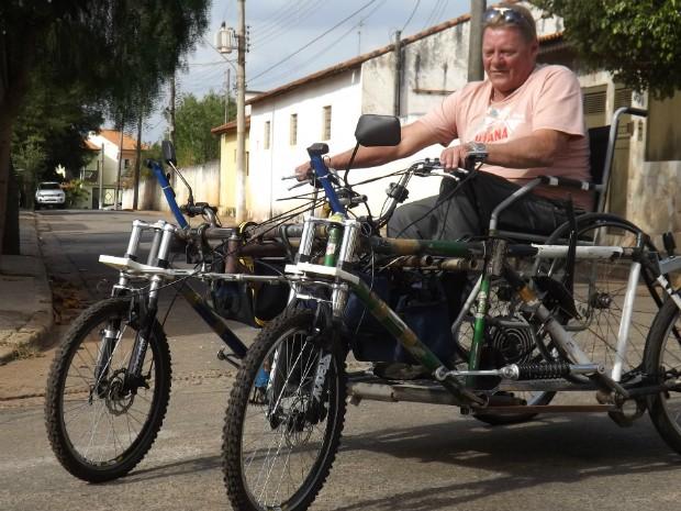 Para o deficiente físico, quadriciclo elétrico geraria independência para cadeirantes (Foto: Caio Silveira/ G1)