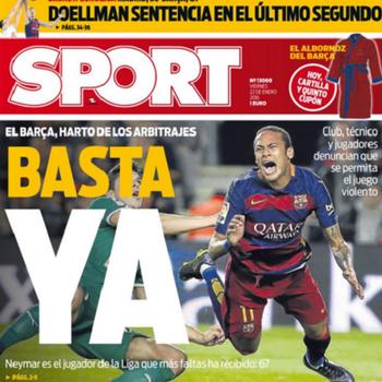 Manchete jornal Sport arbitragem (Foto: Reprodução / Sport)