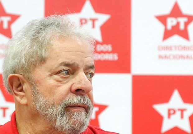O ex-presidente Luiz Inácio Lula da Silva na reunião da executiva do PT em São Paulo (Foto: Ricardo Stuckert/Instituto Lula)