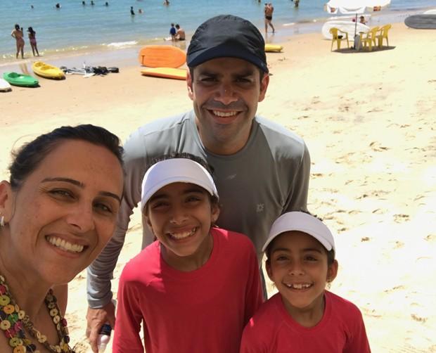 Lair Rennó com sua mulher, Emília, e as filhas Ana e Carolina (Foto: Arquivo pessoal)