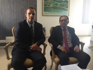 Procuradores do estado, Pedro Dória e Francisco Feijó (Foto: John Pacheco/G1)