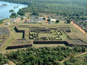 Forte Príncipe da Beira, em RO (Foto: Emanuel Alencar/Arquivo Pessoal)