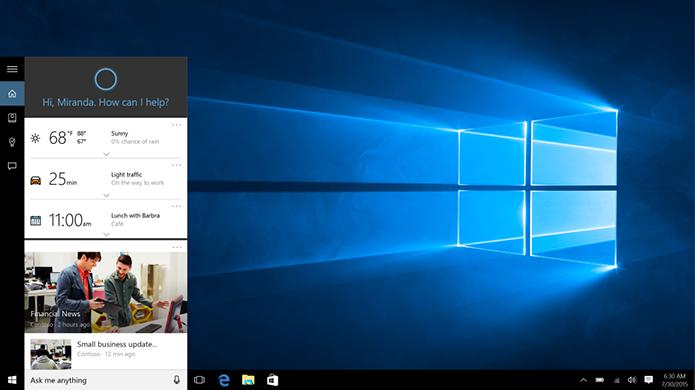 Cortana exigirá Bing e Edge para resguardar funções inteligentes (Foto: Divulgação/Microsoft)