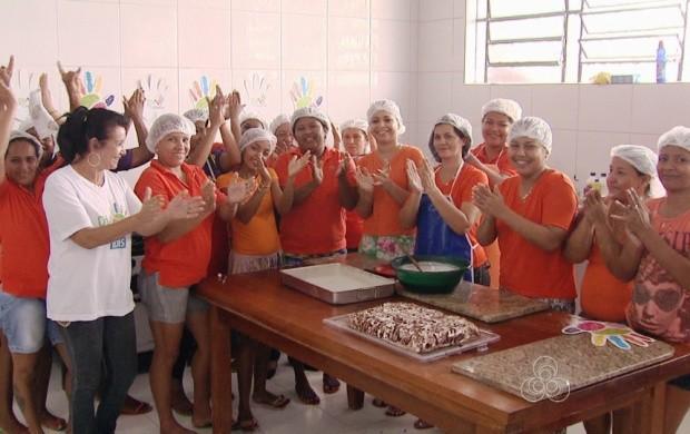 Mais de 120 reeducandas participam das atividades de aperfeiçoamento (Foto: Bom Dia Amazônia)