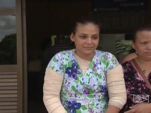 Vítima de ataques em São Luís recebe alta (Foto: Reprodução/TV Mirante)