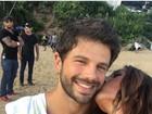 Duda Nagle ganha beijinho carinhoso de Sabrina Sato: 'Te amo'