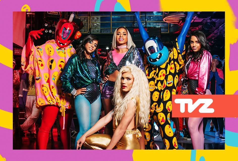 Pankadon, Aretuza Lovi e MC Loma e as Gmeas Lacrao lanam o clipe de 'Pac Pac' no TVZ desta sexta (8) (Foto: Divulgao)