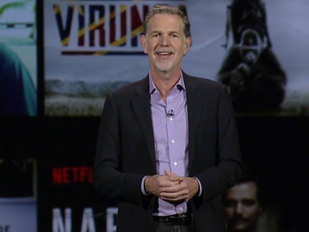 Reed Hastings, co-fundador do Netflix, anuncia novidades na CES 2016 (Foto: Reprodução/ces.netflix.com )