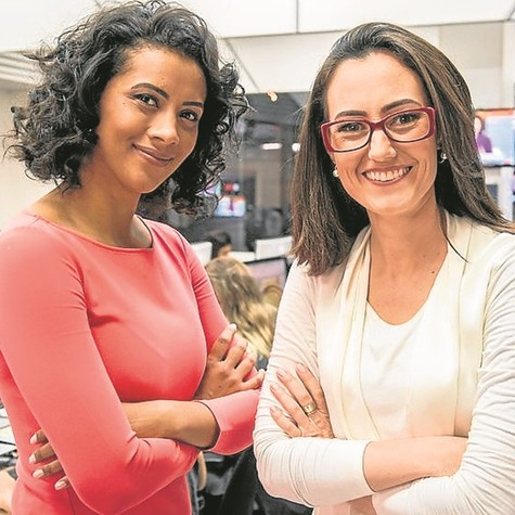 Aline Midlej e Raquel Novaes (Foto: João Cotta/ TV Globo)