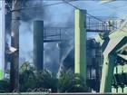 Bombeiros combatem incêndio em  siderúrgica em Divinópolis