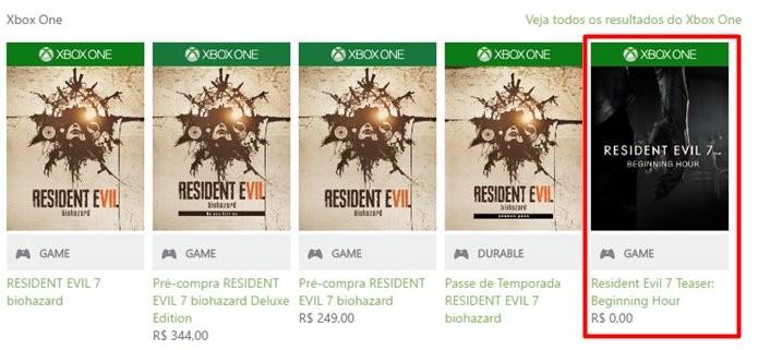 Resident Evil 7: Begining Hour chega ao Xbox One com todas as atualizações (Foto: Reprodução/Felipe Demartini)