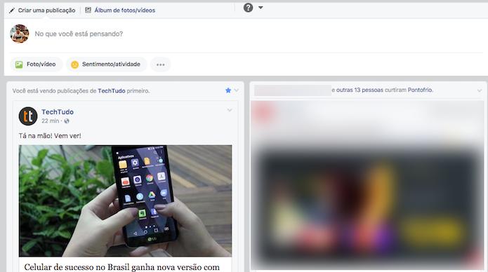 Feed do Facebook duplicado com a extensão Fave para Google Chrome (Foto: Reprodução/Marvin Costa)