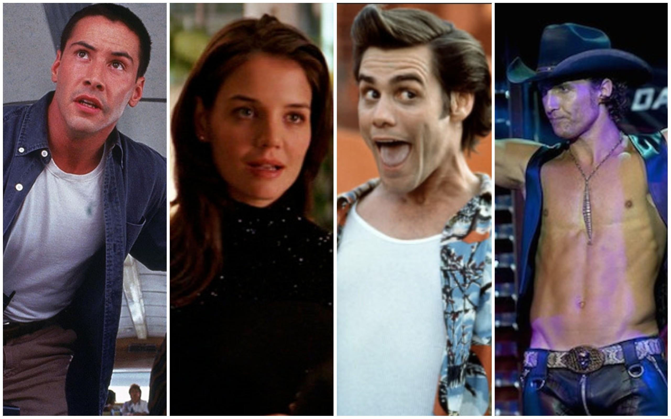 Keanu Reeves, Katie Holmes, Jim Carey, Matthew McConaughey (Foto: Reprodução)