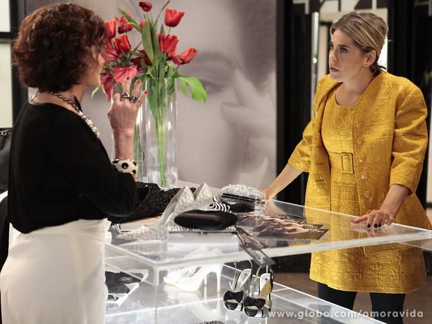 Tamara fala de Herbert para Edith (Foto: Pedro Curi/TV Globo)