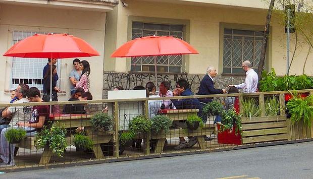Parklet no bairro Paraíso - São Paulo (Foto: Divulgação/Instituto Mobilidade Verde)