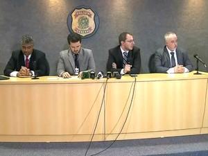Polícia Federal concede coletiva para falar da 11ª fase da Operação Lava Jato (Foto: Reprodução/RPC)