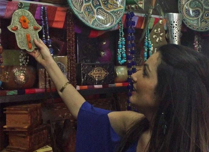 Patrícia Poeta mostra objeto que comprou para decoração do 'É de casa' (Foto: Reprodução)
