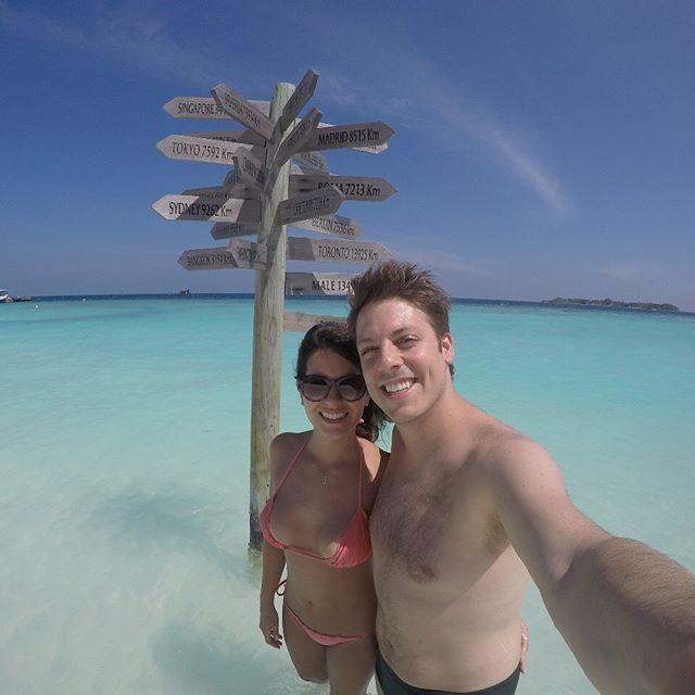 Fabio Porchat e Nataly Mega curtem lua de mel nas Maldivas (Foto: Reprodução/Instagram)