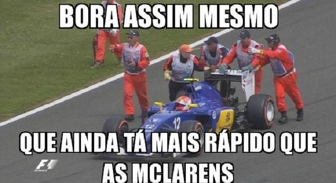 Meme com Felipe Nasr no GP da Inglaterra (Foto: Reprodução/Twitter)