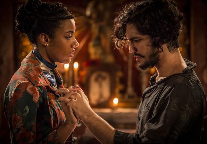 Sophie e Miguel vivem um dilema na relação enquanto Yara e Gabriel se dedicam aos personagens (Foto: Inácio Moraes/ Gshow)