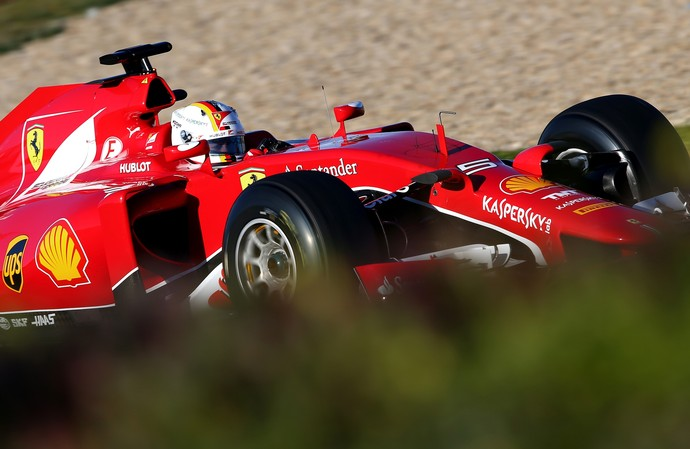 Sebastian Vettel - Ferrari - dia 1 testes Fórmula 1 em Jerez (Foto: Getty Images)