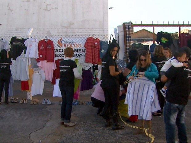 Campanha de doação Alambrado da solidariedade deve permanecer por mais 15 dias (Foto: Maurício Glauco/EPTV)