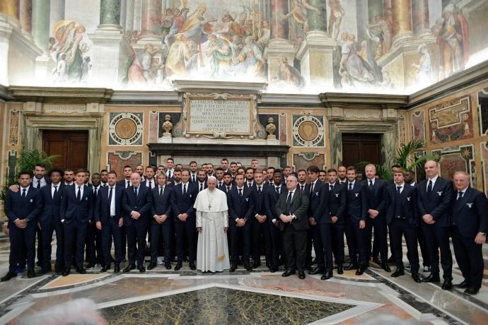 BLOG: Papa Francisco recebe elencos de Juve e Lazio antes da final da Copa da Itália