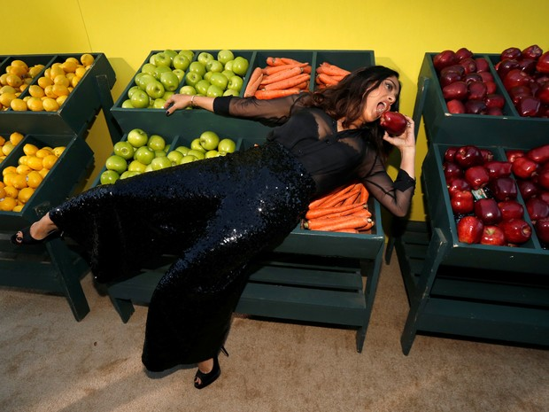 Salma Hayek em première de filme em Los Angeles, nos Estados Unidos (Foto: Mario Anzuoni/ Reuters)