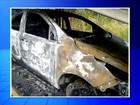Caminhão cegonha pega fogo em rodovia de Assis