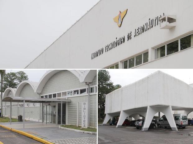 Complexo do ITA - como o hangar da engenharia, biblioteca e prédio principal - foi projetado por Niemeyer (Foto: Carlos Santos/G1)