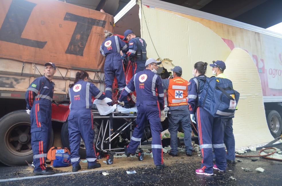 Um dos ocupantes teve ferimentos graves, conforme a PRF (Foto: Romildo Black/Correio do Sul)
