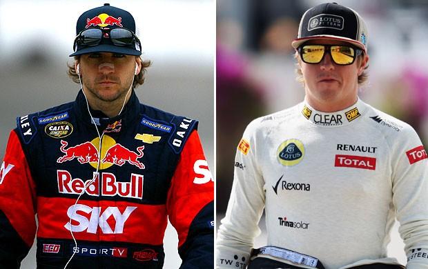 Serra e Kimi, Formula 1 (Foto: Montagem sobre fotos de Bruno Terena / Divulgação e Agência Getty Images)