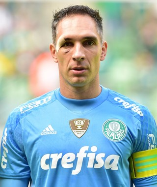 Fernando Prass Palmeiras x Santa Cruz (Foto: Marcos Ribolli)