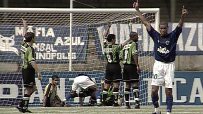 Cruzeiro goleia o América-MG por 7 a 0 na Copa Sul-Minas  (Foto: Reprodução/ TV Globo Minas)